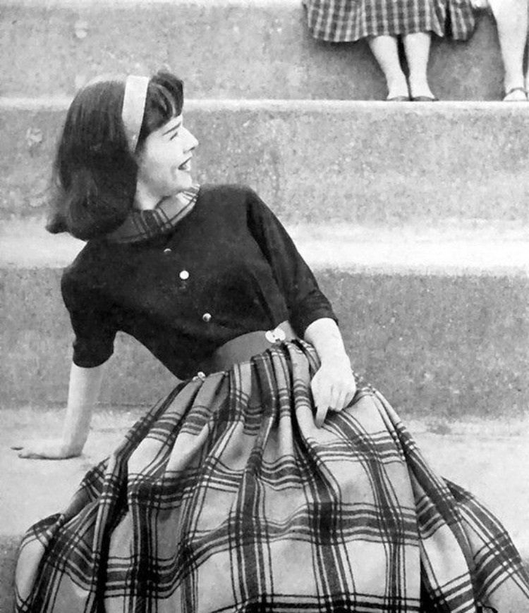 vintage 1950s college girl fashion