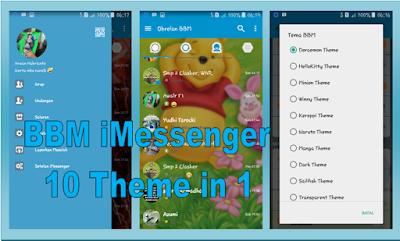 Ubdate BBM iMessenger V6 10 Theme Cartoon Based 3.0.0.18 APK
