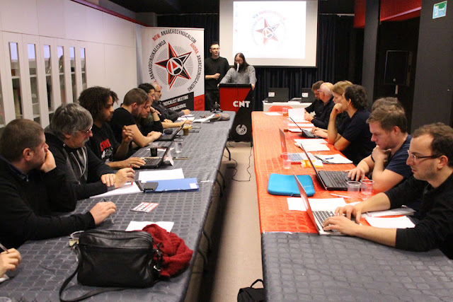 Reunión en la CNT en Barakaldo