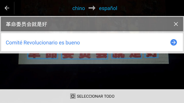 Google Translate cámara de fotos