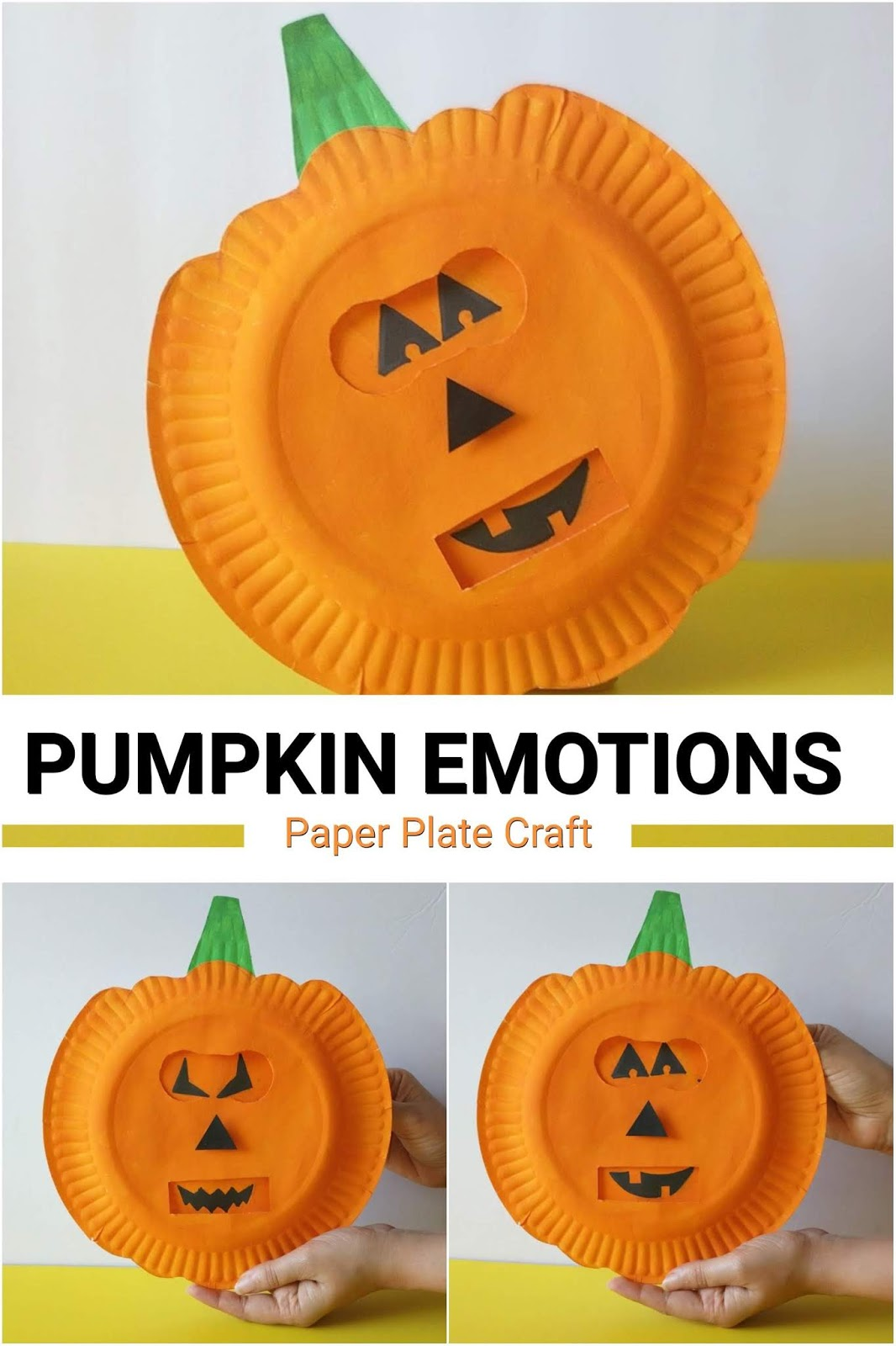 Pumpkin Emotions Halloween Craft For Kids