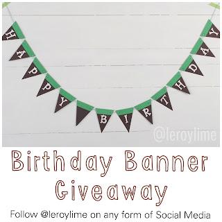Minecraft Birthday Banner Giveaway #leroylimegiveaway