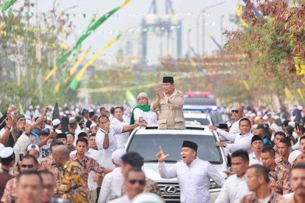 Hadiri Haul Mbah Priok, Prabowo Ajak Tampilkan Kesejukan