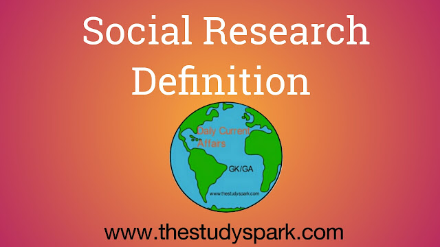 Social Research Definition