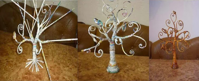 Cara Membuat Miniatur Pohon Dari Kertas Dan Koran