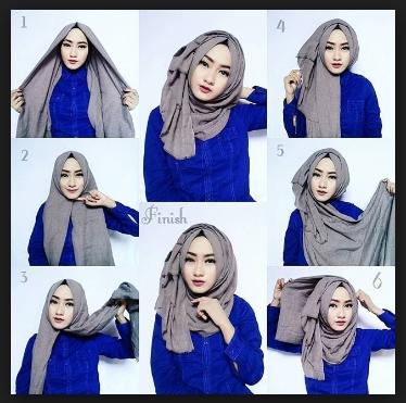 Tutorial hijab paris segi empat untuk pesta
