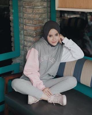 model hijab hoodie modern terbaru