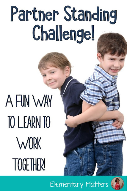 Partner Standing Challenge: Learning to work together! Here's a fun challenge that won't take up too much time, but will help children or adults learn to work together.