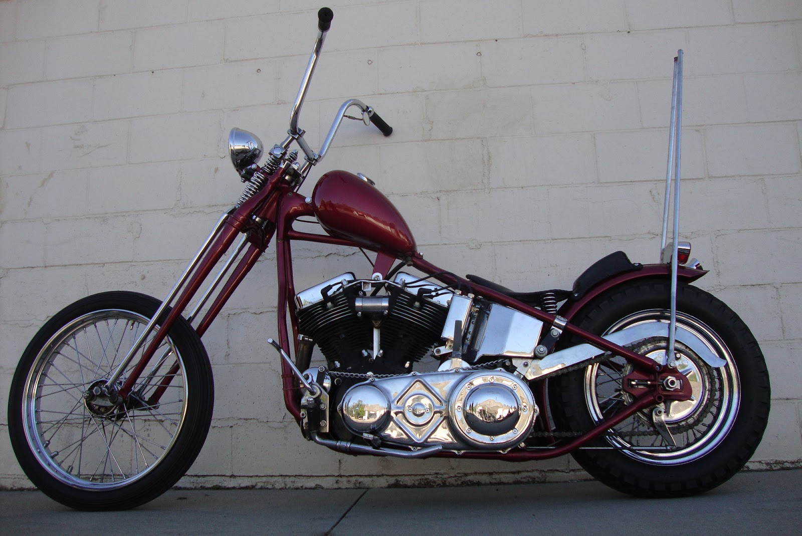 LOVE CYCLES: 1951 Panhead chopper for sale