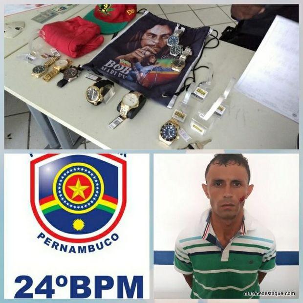 Assaltante é preso após praticar roubo em loja no centro de Santa Cruz do Capibaribe