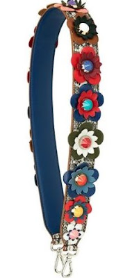 flowered leather purse strap from eBay seller shining-forever