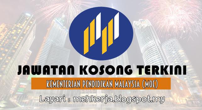 Jawatan Kosong Terkini 2016 di Kementerian Pendidikan Malaysia (MOE)