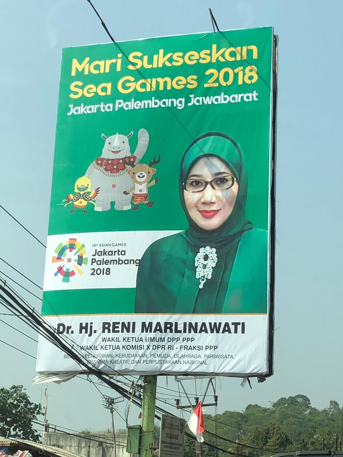 Kocak, Inilah Letak Kesalahan Baliho Politikus PPP Soal Asian Games