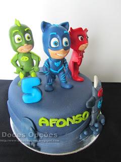 bolo aniversário PJ Masks disney junior