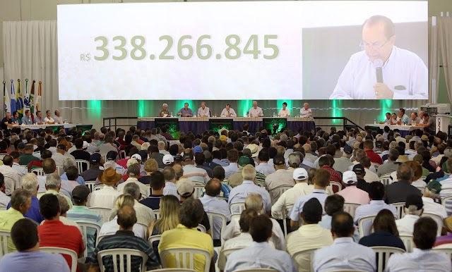 COAMO TEM RECEITAS DE R$ 11,45 BILHÕES E SOBRAS DE R$ 338,26 MILHÕES