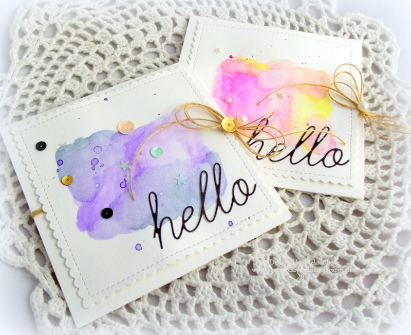 Shimmerz Paints Hello Note Cards by Melissa