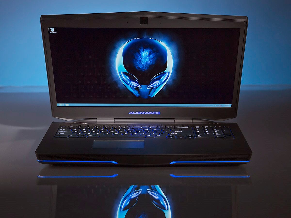 Alienware 17 with blue lighting – definitely eye-catching