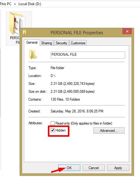Hide File, Folders