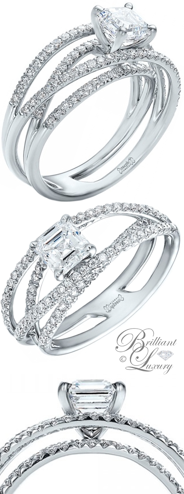 Brilliant Luxury ♦ Joseph Jewelry Custom Pave Diamond Multi-Band Engagement Ring