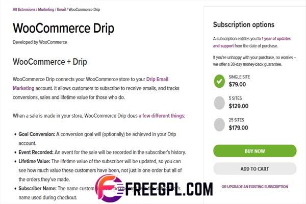 WooCommerce Drip Plugin Free Download