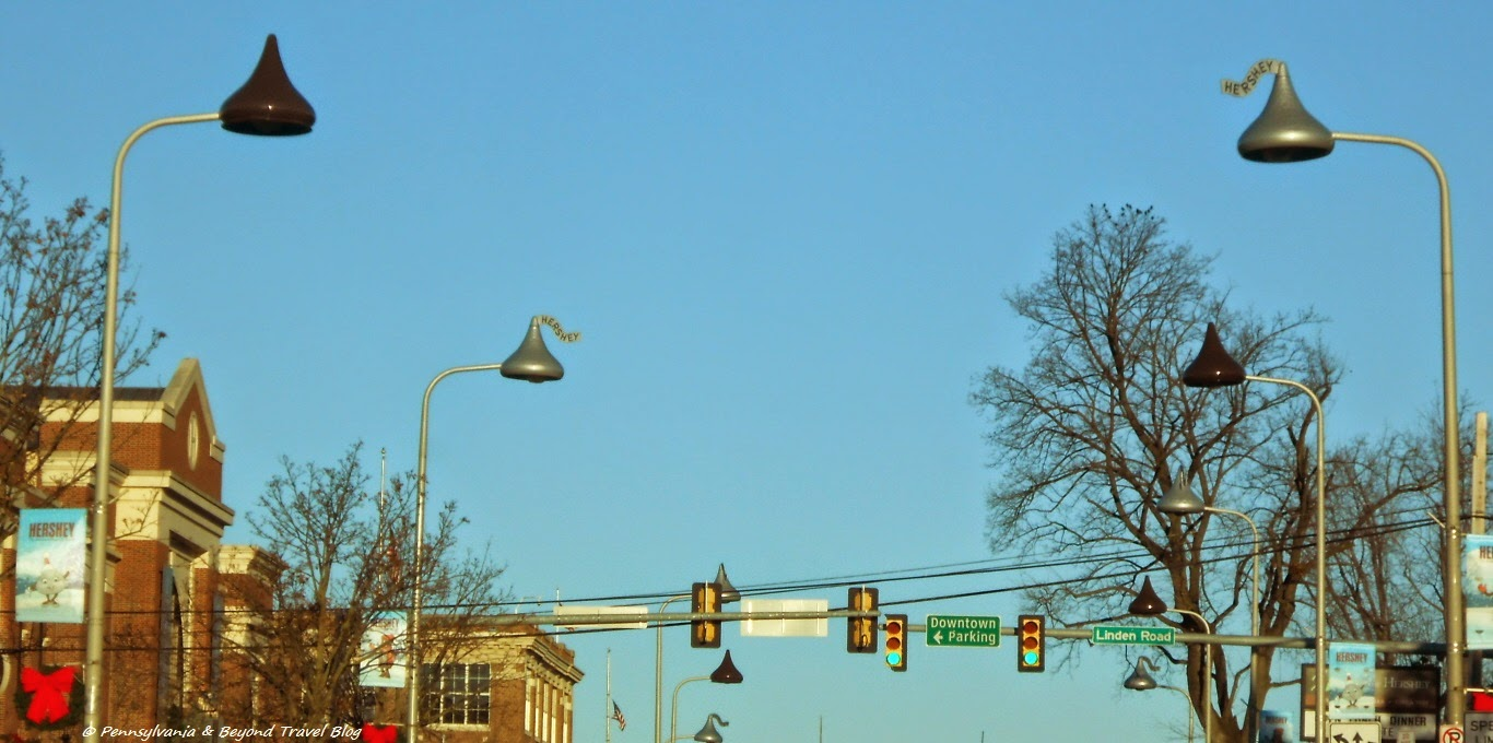 Hershey Kiss Street Lights in Downtown Hershey