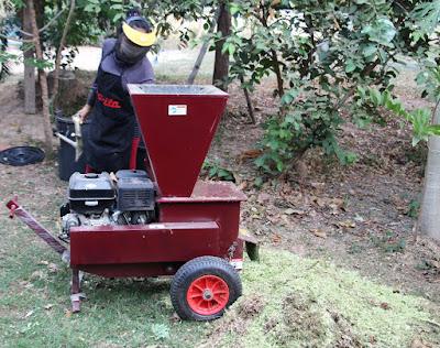 TruYard Garden Chipper delivered to Isaan Village Thailand