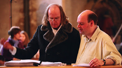 Sir John Tavener with conductor Stephen Layton