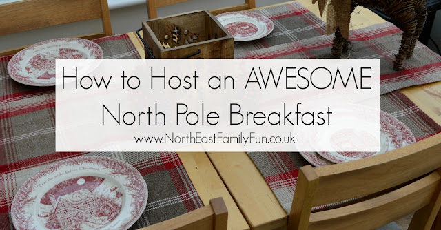 How to host an AWESOME North Pole Christmas Breakfast including tableware from TK Maxx, food ideas and table printables