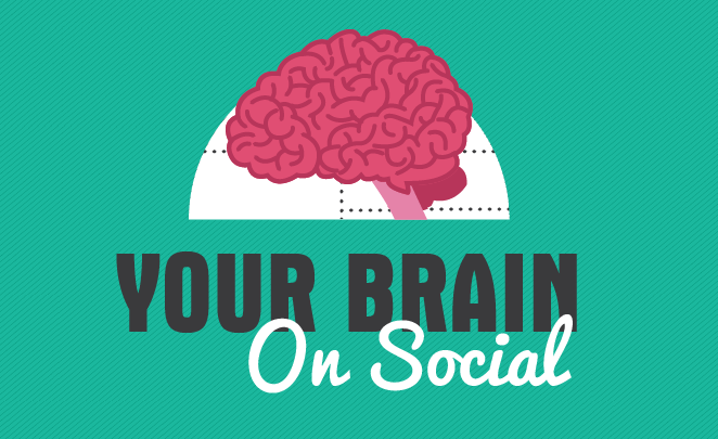 The Human Brain and Social Media - #infographic