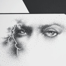 09-Lightening-Eyes-Eric-Wang-Stippling-Drawings-www-designstack-co