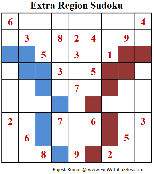 Extra Region Sudoku (Fun With Sudoku #161)