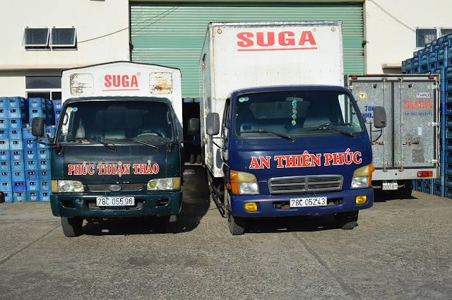 Nước uống tinh khiết đóng chai Suga - Hệ thống vận chuyển nước tại công ty An Thiên Phúc