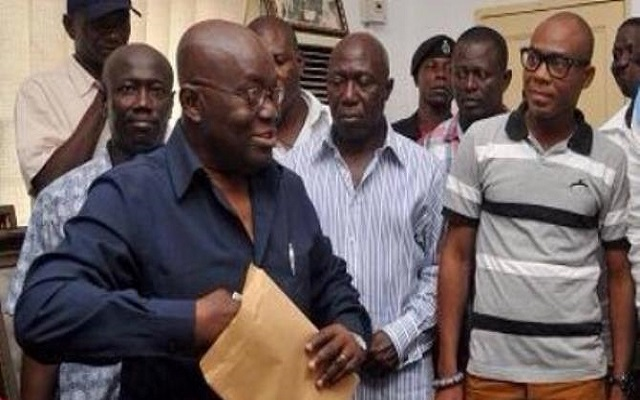 Nana Addo files nomination forms but EC rejects filing fee