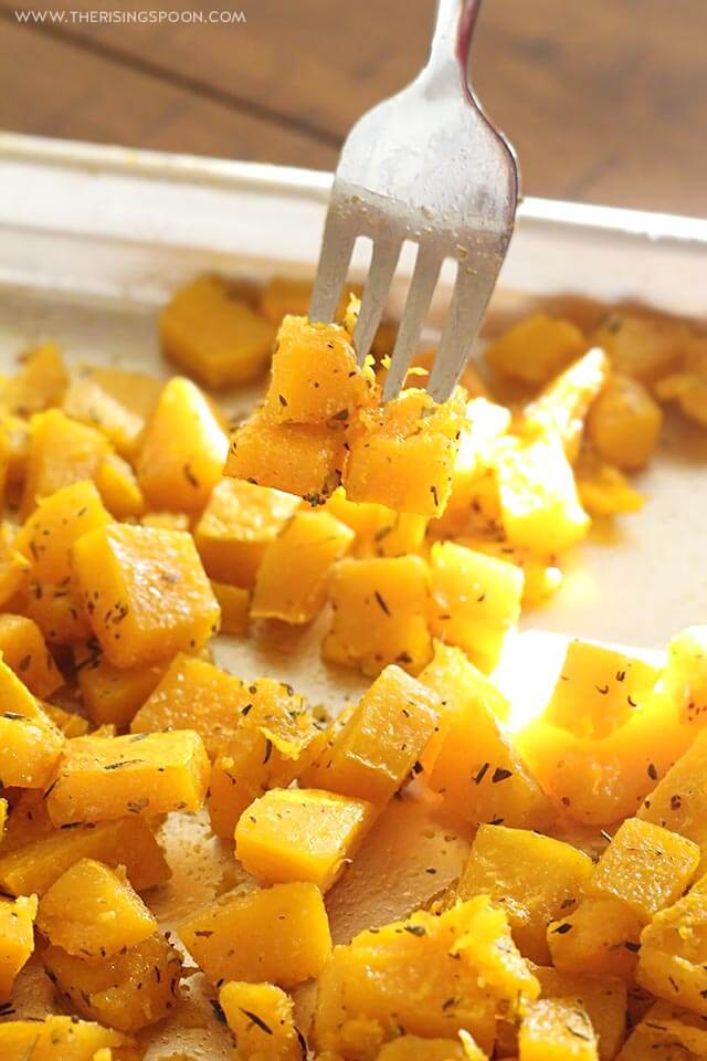Easy Healthy Recipe For Roasted Butternut Squash