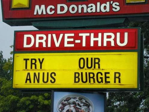 Anus Burger NEW from McDonalds