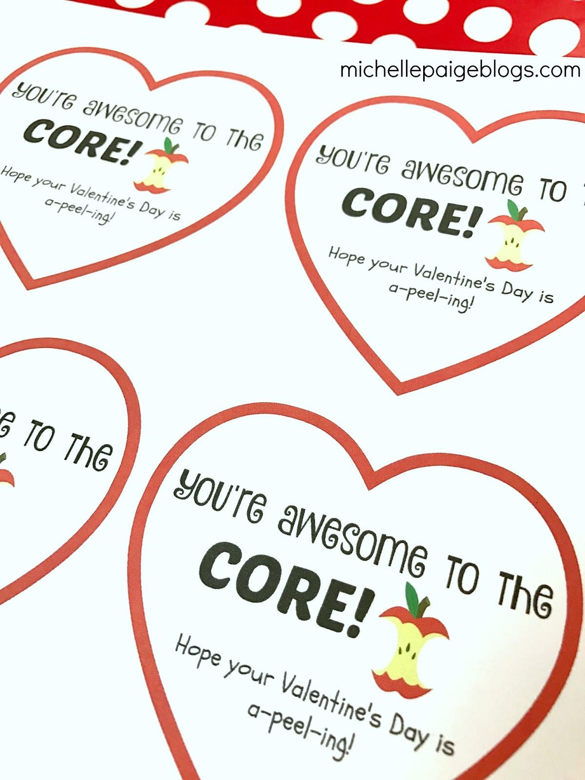 Michelle Paige Blogs Apple Valentines
