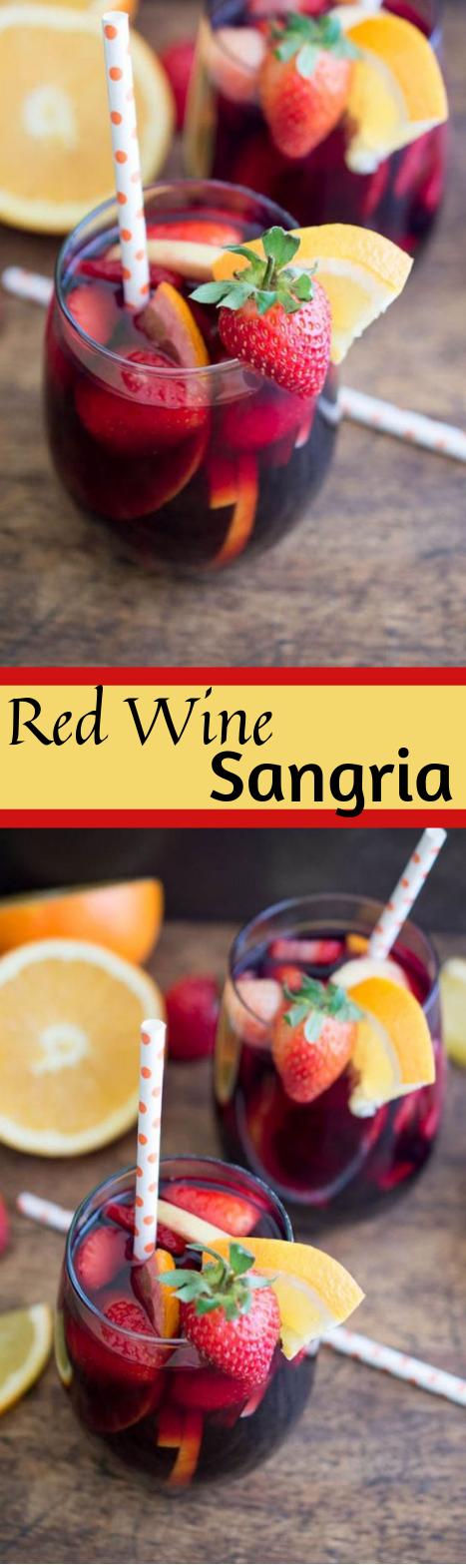 Red Wine Sangria #sangria #healthydrink