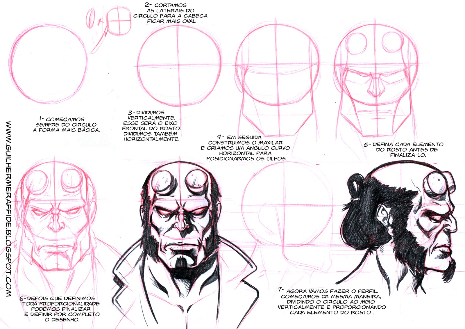 Como Desenhar O Hellboy How To Draw Hellboy