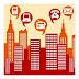 Desen cu blocuri in oras si aparatura electronica - 10 Litere PixWords