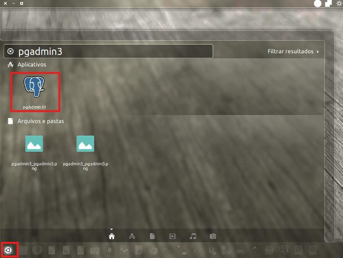 acessar pgadmin3 no ubuntu