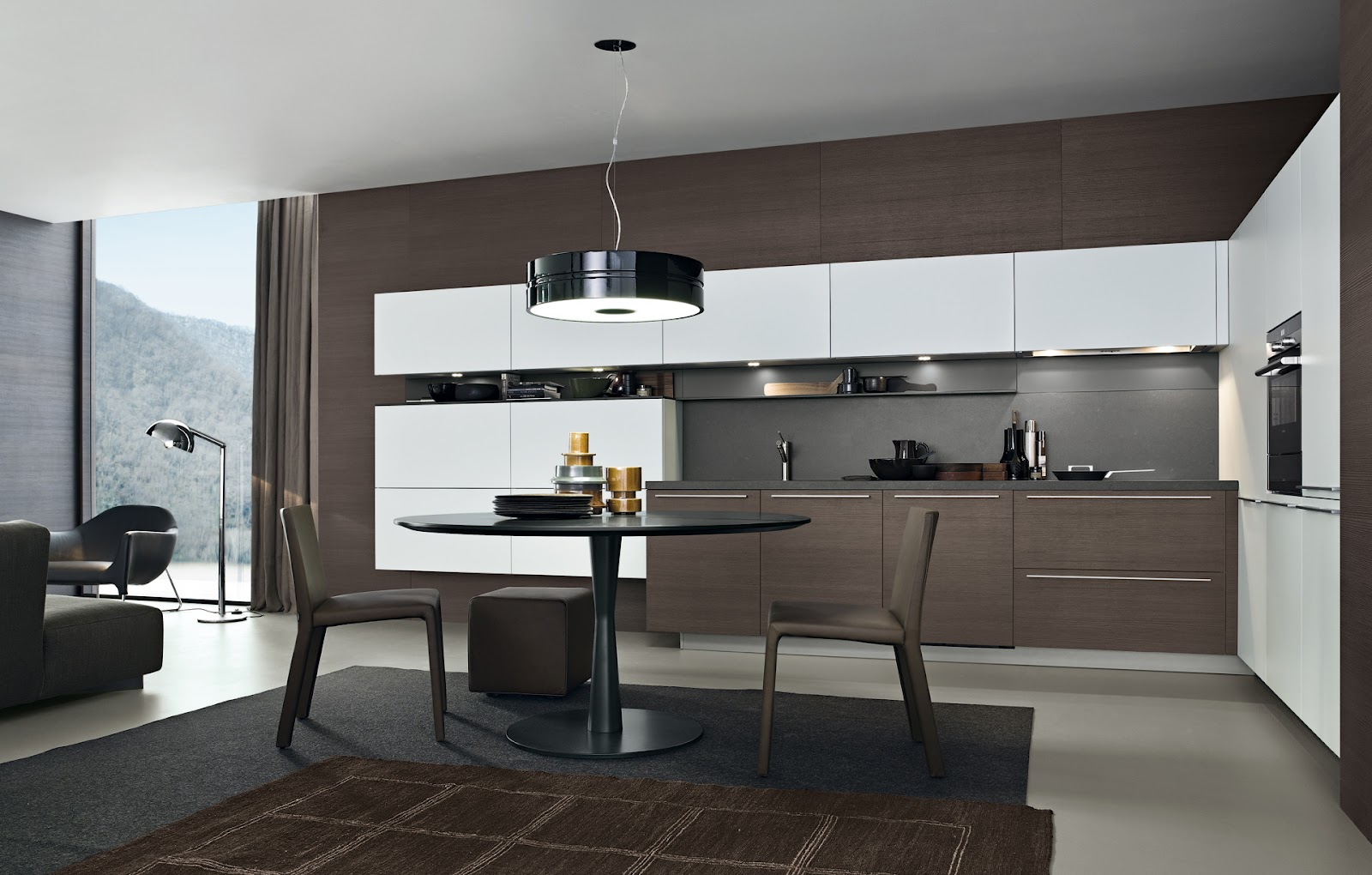 Lo claro y lo oscuro en la cocina cocinas con estilo for Muebles cocina chica