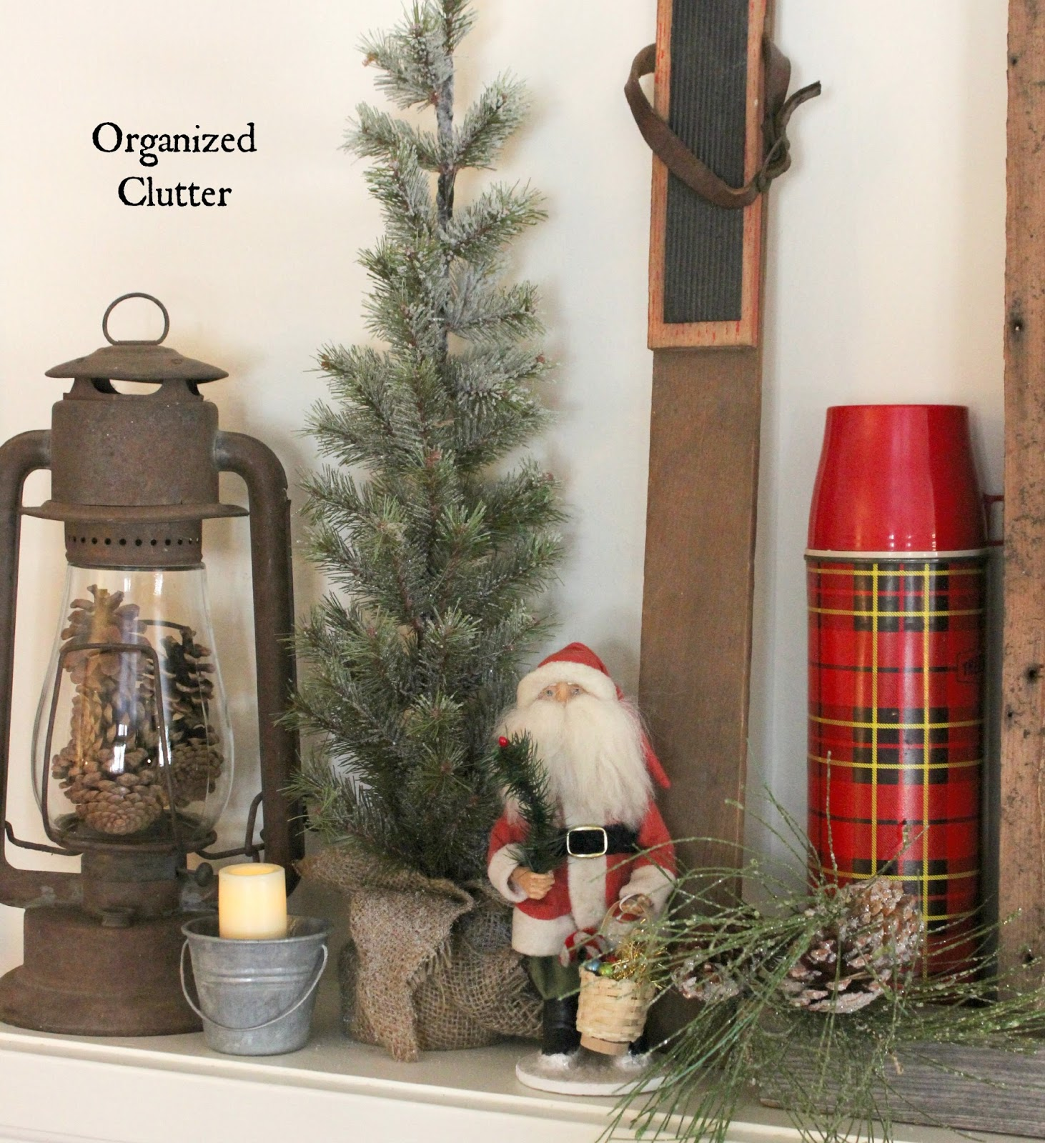 Winter Wonderland Christmas Mantel 2015 Organized Clutter