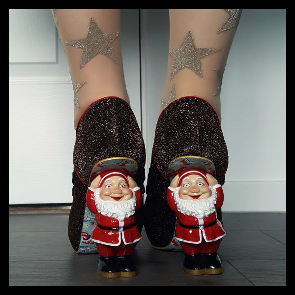 wearing irregular choice santa character heel