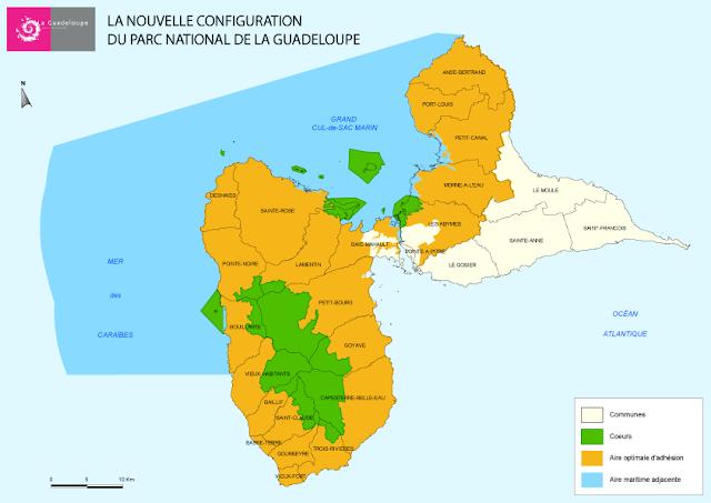 Carte officiel du parc national de Guadeloupe