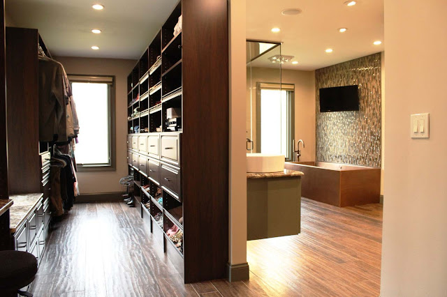 Inspiration Walk In Closet And Bathroom Ideas Ways To Make Your Designs Photo