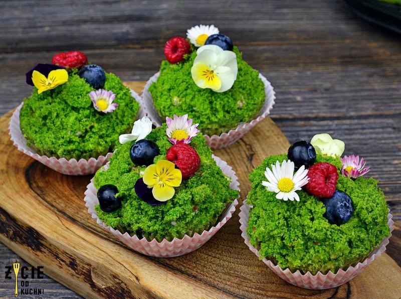 wielkanocne muffinki, wiosenne muffinki, zielone muffinki, zycie od kuchni