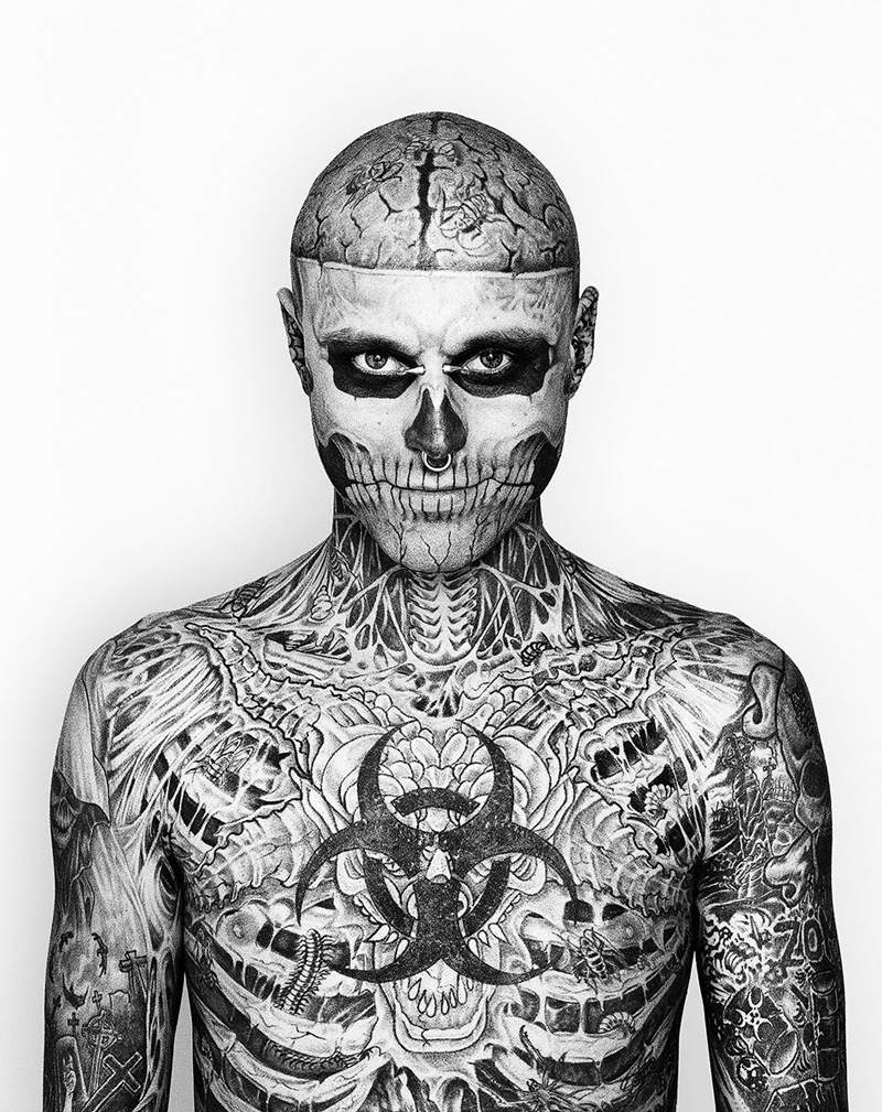 TATTOOS: Rick Genest (Zombie Boy)