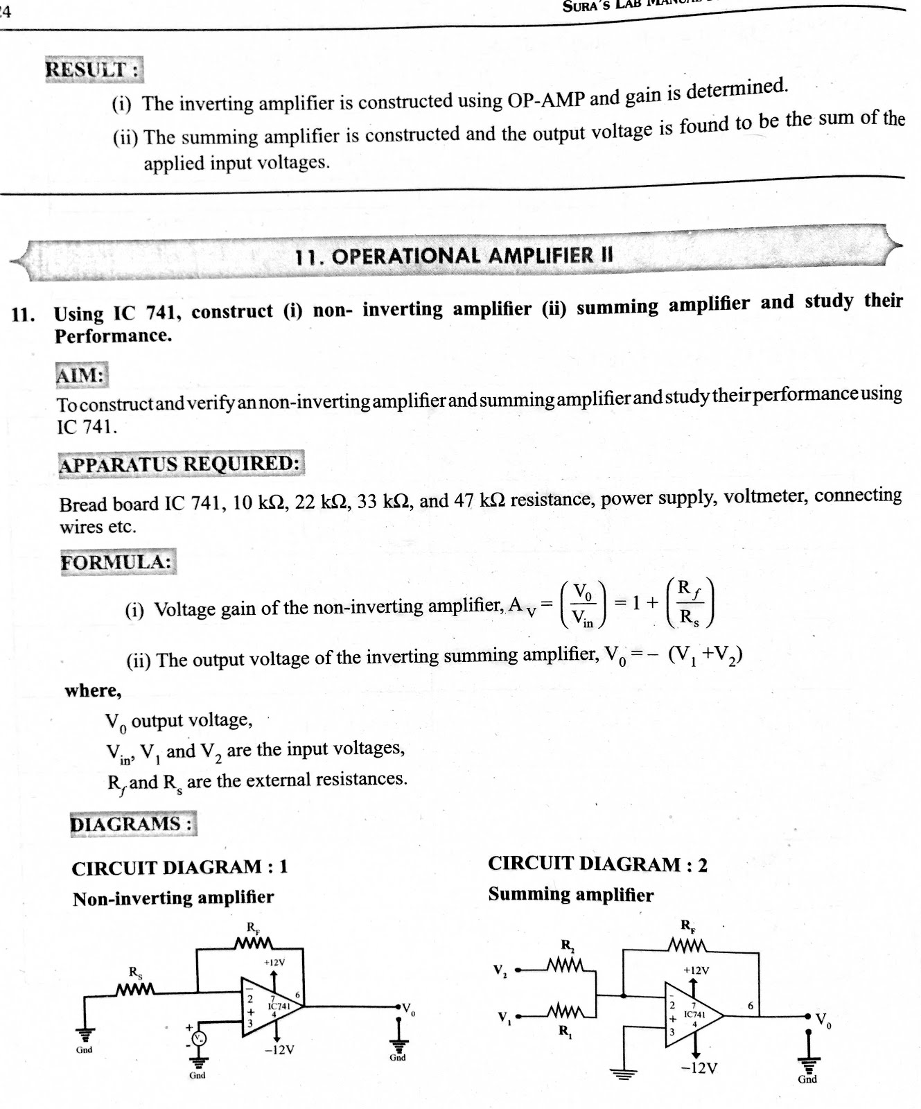 Subramani Physics New Pattern Practicals Model Papers Strength Meter Using Ic741 Posted By At 318 Am No Comments