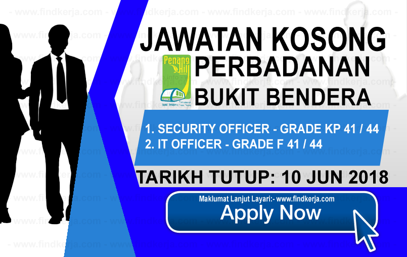 Jawatan Kerja Kosong Perbadanan Bukit Bendera Pulau Pinang logo www.findkerja.com jun 2018