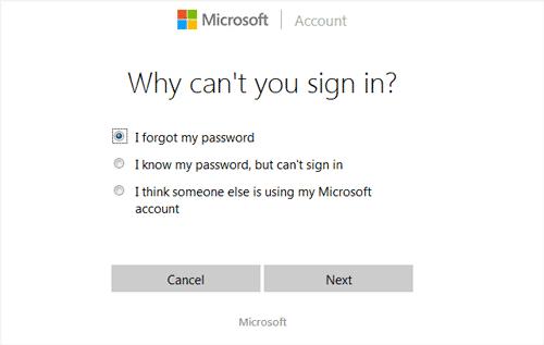 change mcrosoft account